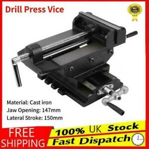 6inch Cross Slide Drill Press Vise Milling Table Vice Holder Clamp Bench Black