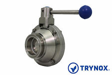 """1"""" Sanitary Ball Valve Clamp Ends 304 Stainless Steel Trynox"""