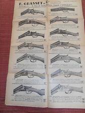 CATALOGUE D'ARME GRASSET FUSILS - 1939 ( ref 46 )