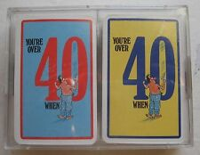 Men You're Over 40 When Double Deck Playing Cards in Plastic Case 2 Decks