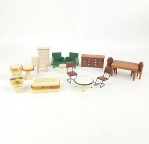 Miniature Doll House Furniture Miscellaneous Bath Room, Bedroom & More