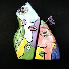 PABLO PICASSO INSPIRED DESIGN SALT AND PEPPER POTS  (KM)