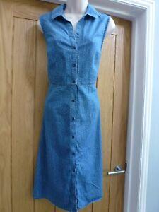 Pretty Tu Woman denim look tiny polka dot shirt dress, size 10