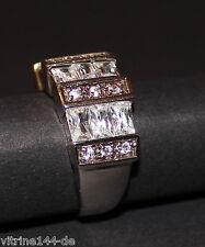 edler Bandring Zirkonia weiß 925er Sterling Größe 56 Damenring Fingerring