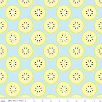 More 100/% Cotton With a Twist Of Lemon Blue Riley Blake Fabric FQ 50cm X 55cm