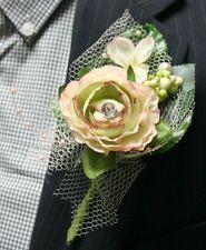 Light Pink Flower Boutonniere, Wedding Accessories, Prom