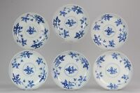 Antique Chinese 1700 Kangxi Period Batavian Blue White Dinner Set Marked with...