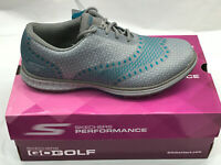 Skechers Go Golf ACE Charcoal/Blue Womens WATERPROOF Golf Shoes 6.5M Were $120