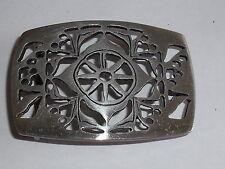 Gürtelschnalle Schnalle Schließe Buckle  4 cm altsilber  NEU rostfrei #853.2#