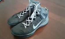 Nike Flywire Hyperforce Men's Black with Gray Trim Basketball Shoes Size 9.5