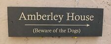 "ENGRAVED SLATE HOUSE DOOR NAME PLAQUE/PLATE/NUMBER/SIGN - 400 x 125mm (16 x 5"")"