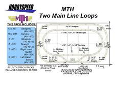 MTH REALTRAX TWO MAIN LINE LOOPS TRACK LAYOUT train pack 4' X 7' o layout NEW
