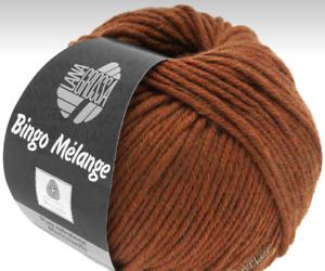 9,90 €/ 100g Bingo Melange LANA GROSSA 50g Fb.241 Maroon Mixed Merino Wool
