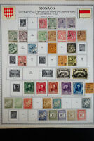 Monaco 1800's to 1970 Stamp Collection
