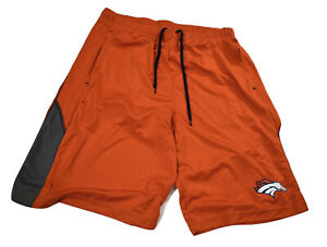NFL Team Apparel Mens Denver Broncos TX3 Cool Performance Shorts S, M, L, 2XL