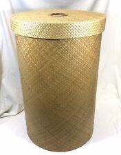Large Round Designer Wicker Laundry Hamper with Lid Shabby Chic Storage Basket