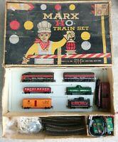 Marx HO 74642 Rock Island Train Set w/ Transformer Incomplete Untested