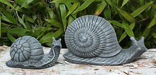 sculpture en pierre escargots 2er Set de Décoration jardin résistant au gel