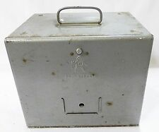 Brumberger 8mm reel holder case storage bin vintage 1950's