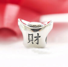 "Genuine Pandora Silver Charm ""Ingot"" (Chinese Wealth and Prosperity) - 791300"