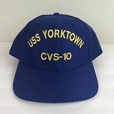 USS Yorktown CVS-10 Aircraft Carrier Snapback Hat Cap Navy New Era - Made In USA