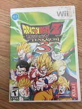 Dragon Ball Z: Budokai Tenkaichi 3 Nintendo Wii Game Cib Decent Works W2