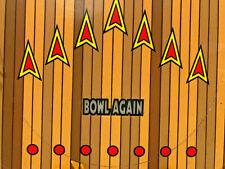 Gottileb Strikes N' Spares Bowling Pinball Machine Game Playfield with Hardware