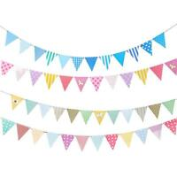 25m Pennant Banner Paper Banner Triangle Paper FlagVintage Bunting Banner Z8I9