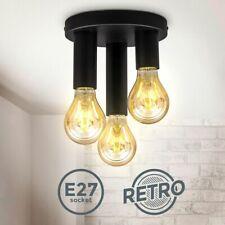 Retro Deckenspot Vintage Deckenlampe Schlafzimmer Flurleuchte Edison E27 schwarz