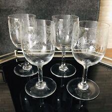 Baccarat France Crystal Gläser Sevigne 4 Weingläser Rotwein 14,2 cm