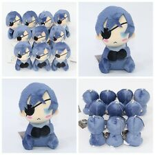 "4"" Black Butler Kuroshitsuji Ciel Phantomhive Mini Plush Soft Doll Toy Bag Emoji"