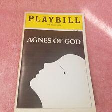 Vintage 1983 - THE MUSIC BOX THEATRE -PLAYBILL- AGNES OF GOD - Program -FreeSHIP