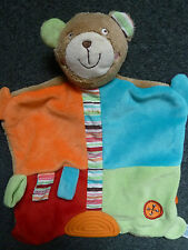 Brendon Bear  Baby Snuggie / Snuggle Blanket Blankie / Comforter with Teether