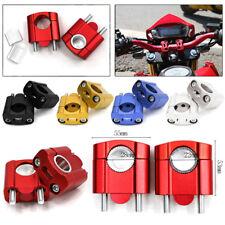2x CNC Alu Motorrad Lenkererhöhung Lenkerverlegung für Lenkergröße 22mm 28mm Neu