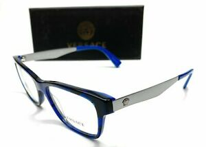 Versace VE3245 5237 Blue Havana Men's Authentic Eyeglasses Frame 55-17