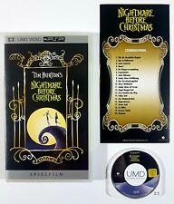 Sony PSP UMD Video TIM BURTON'S NIGHTMARE BEFORE CHRISTMAS dt. OVP