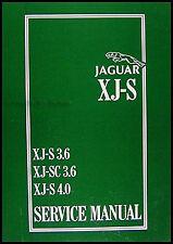 Jaguar XJS 6 Cylinder Repair Shop Manual 1989 1988 1987 1986 1985 1984 1983 XJ S