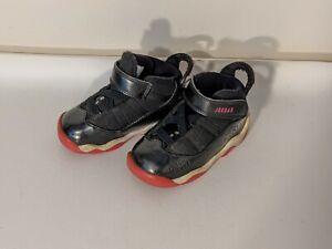 Nike Air Jordan Retro 6 Rings size 6c Toddler Pink and Black 323420-004 Shoes