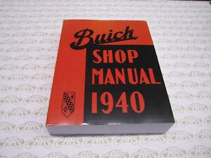 1939 1940 Buick Body Shop Manual 39 40 Repair Service Book Car ...
