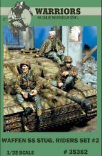 Warriors 1:35 Waffen SS Stug Riders Set 2 3 Resin Figures Kit #35382