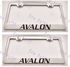 2X Toyota AVALON Stainless Steel License Plate Frame Rust Free W/ Caps