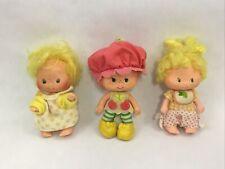 Vintage Strawberry Shortcake Dolls Cherry Cudler Lem & Ada Action Figure Dolls