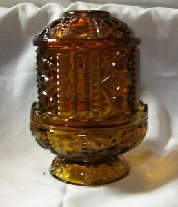 """Homco Amber Fairy Lamp , approximately 6"""" tall"""