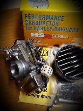 Kit Carburatore MIKUNI HSR 42 BLACK con filtro ROUGH CRAFTS moto HARLEY - BUELL