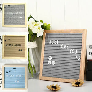 Letter Board Wooden Frame Changeable Symbols Message Boards for Home/Office CA