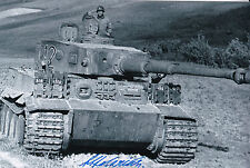 Otto Carius Signed Auto 4x6 Photo WW2 German Tank Ace 150 Vic Knights/Iron Cross