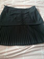 Women's Ricochet Black Pleated Skirt. Size 6