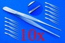Pinzas Anatómicas Aprox. 11,5 CM 10x Calidad Superior Acero Inoxidable