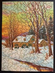 """Vintage TUCO Deluxe Picture Puzzle """"SNOWY DAYS""""  Complete 12""""x16"""""""