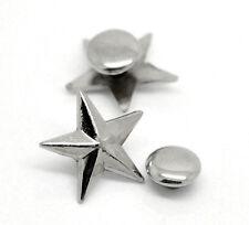 50 sets rivets clou étoile à cinq rayons 14mmx13mm 7mm